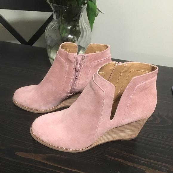 b177b2e4152 Lucky Brand Shoes - Lucky Brand Yabba Wedge Bootie 6.5 blush